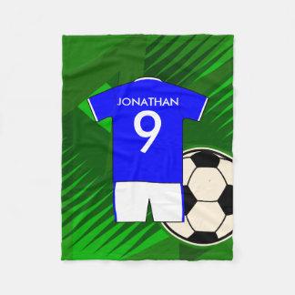 Bleu personnalisé et blanc de Jersey de football