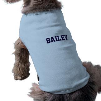 Bleu personnalisé t-shirt pour chien