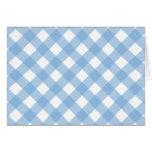 Bleu placide du plaid 1 cartes