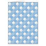 Bleu placide du plaid 3 cartes