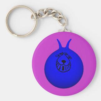 Bleu/pourpre de porte-clés de trémie de l'espace