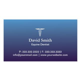 Bleu professionnel équin de service médical et carte de visite standard
