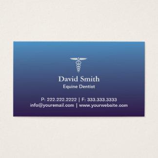 Bleu professionnel équin de service médical et cartes de visite