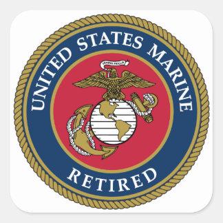 Bleu retiré par marine des USA Sticker Carré