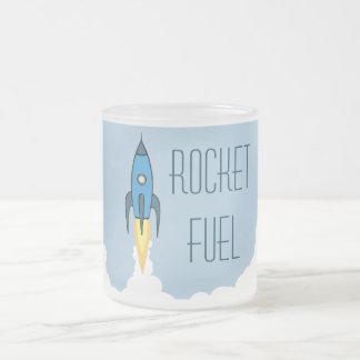 Bleu Rocketship d'ergol combustible Mug En Verre Givré