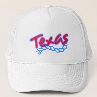 Bleu rouge de corde de lasso du Texas de casquette