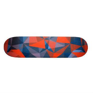 bleu rouge de planche à roulettes skateboard