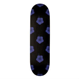 Bleu royal du motif de fleur 3 plateaux de skate