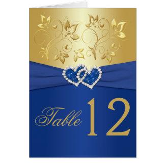 Bleu royal et carte florale de nombre de Tableau