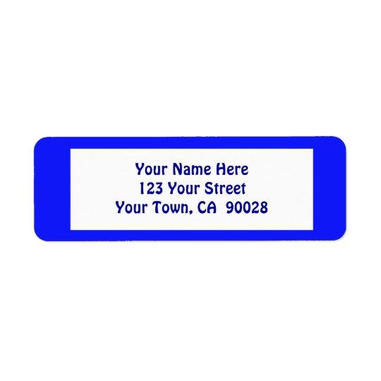 bleu simple étiquette d'adresse retour