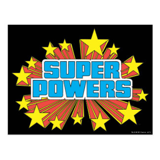 Bleu superbe de logo de Powers™ Carte Postale