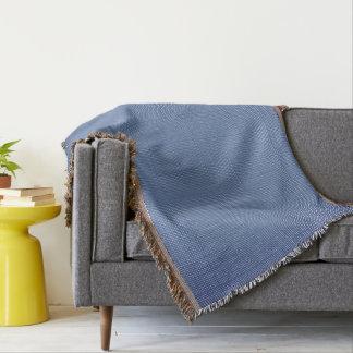Bleu-sur-Bleu-Plaid--Traditionnel-Unisexe Couvertures