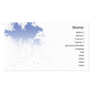 Bleu sur l'éclaboussure blanche - affaires carte de visite