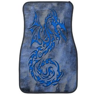 Bleu tribal du dragon 3 tapis de voiture