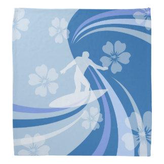 Bleu tropical de surf bandana