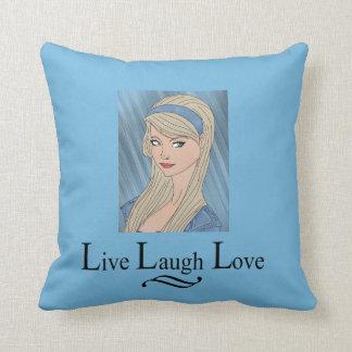 Bleu vivant de coussin d'amour de rire