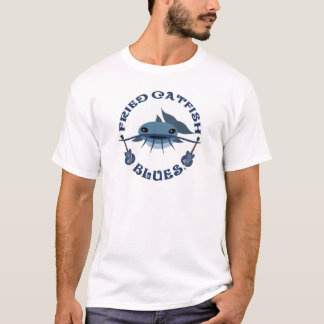 Bleus frits de poisson-chat t-shirt