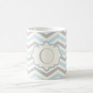 Bleus layette modernes, gris, motif en ivoire de mug