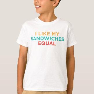 BLgT I aiment mes sandwichs égaux T-shirt