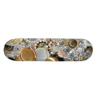 Bling de fantaisie boutonne le collage planches à roulettes customisées