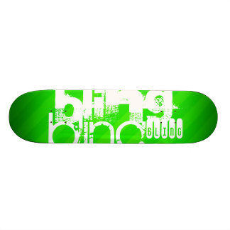 Bling ; Rayures vertes au néon Plateau De Skateboard