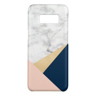 bloc bleu de couleur de pêche de marbre blanche coque Case-Mate samsung galaxy s8