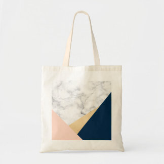 bloc bleu de couleur de pêche de marbre blanche sacs