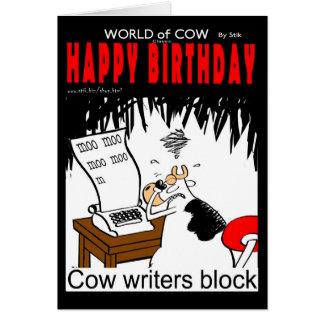 Bloc d'auteurs de vache carte de vœux