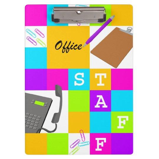 Bloc de couleur de personnel administratif