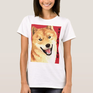 Bloc de couleur de Shiba Inu T-shirt