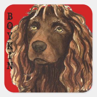 Bloc de couleur d'épagneul de Boykin Sticker Carré