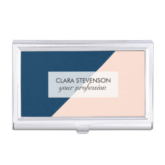 bloc en pastel moderne élégant de couleur de bleu boîtiers pour cartes de visite