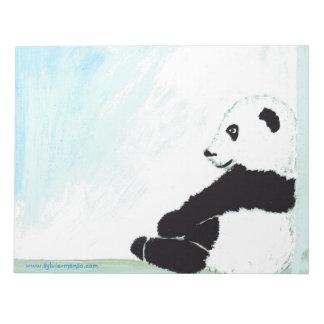 """Bloc Feuilles A4 - """"Panda heureux"""" de Sylvie Manso Blocs Notes"""