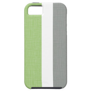 Bloc gris de toile de couleur verte de Faux Coque iPhone 5 Case-Mate