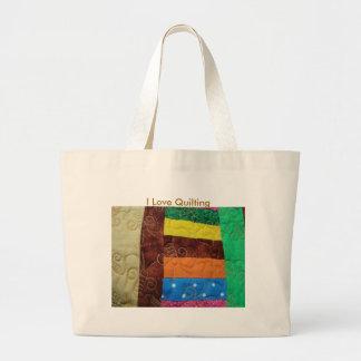 Bloc multicolore d'édredon, j'aime piquer grand sac