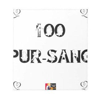 Bloc-note 100 PUR-SANG - Jeux de Mots - Francois Ville