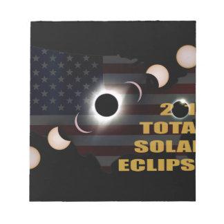 Bloc-note 2017 phases totales d'éclipse solaire