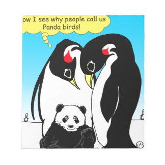 Bloc-note 941 oiseaux de panda sont bande dessinée de