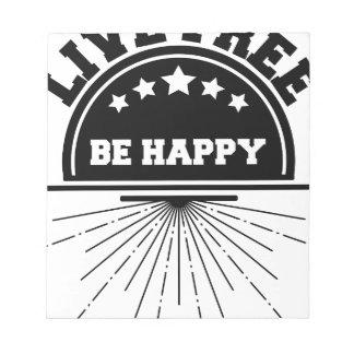 Bloc-note Abeille libre vivante heureuse