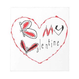 Bloc-note Abeille mon valentine