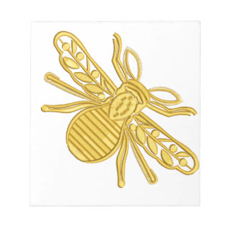 Bloc-note abeille royale, imitation de broderie