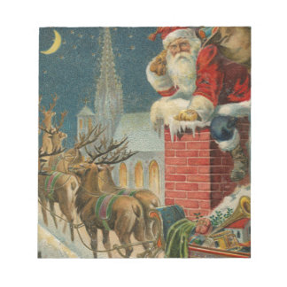 Bloc-note Affiche 1906 clous de Père Noël de cru original