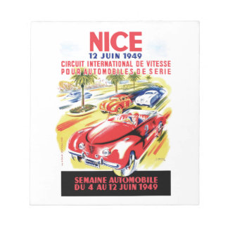 Bloc-note Affiche de course d'automobile de circuit de 1949