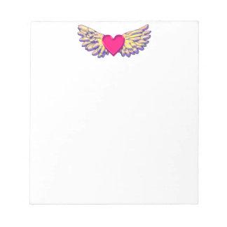 Bloc-note ailes de coeur