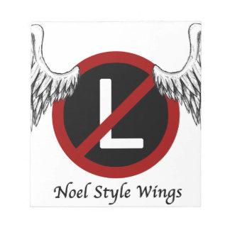 Bloc-note Ailes de style de Noel