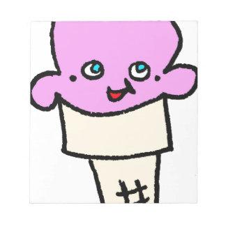 Bloc-note Ainsi fraise de cornet de crème glacée de Kawaii