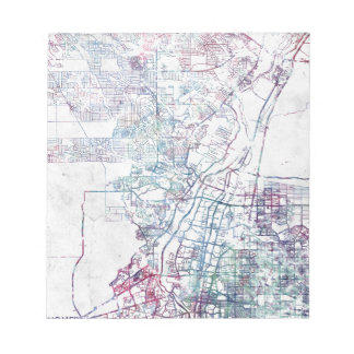 Bloc-note Albuquerque map painting