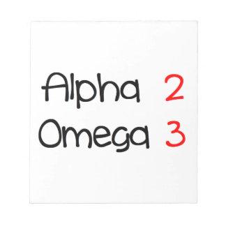 Bloc-note alpha omega