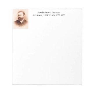 Bloc-note Amedee-Ernest Chausson
