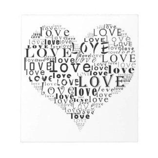Bloc-note Amour